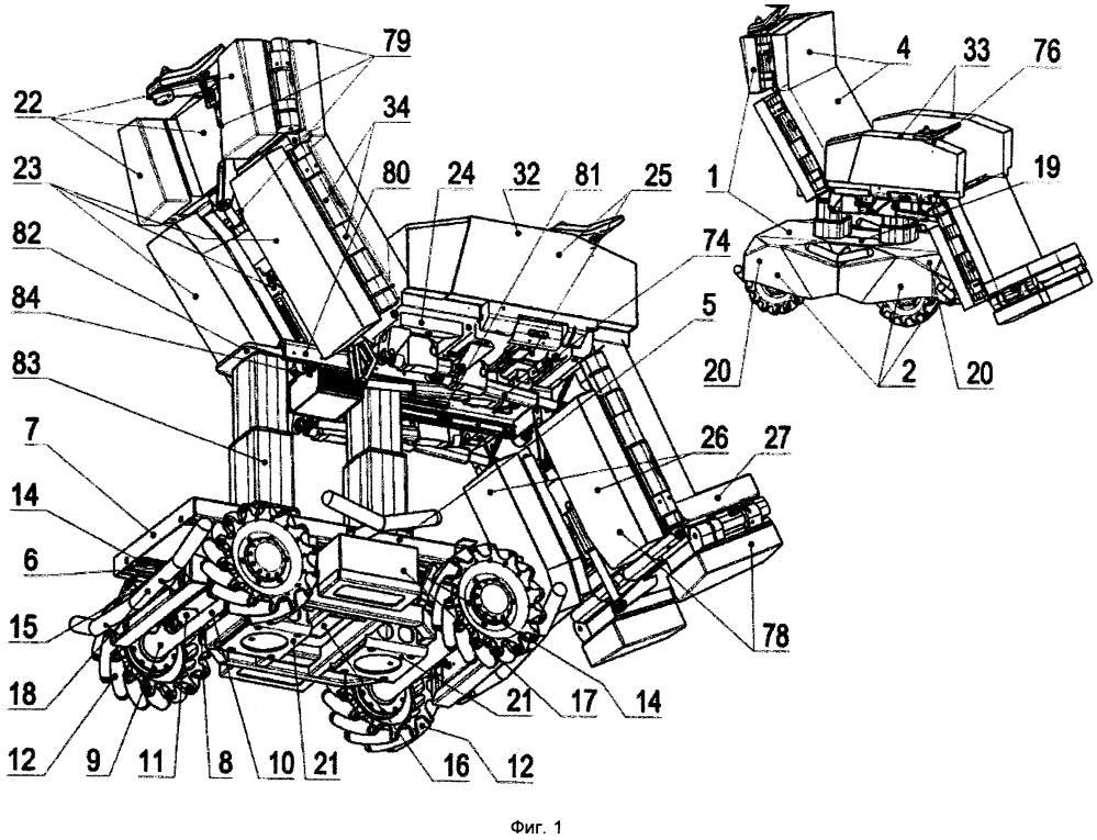 Передвижная роботизированная модифицируемая кровать