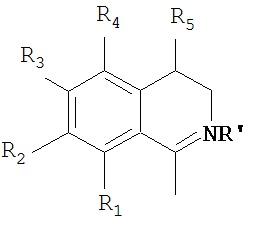 Производные 6,7-двузамещенного изохинолина и их применение при лечении лекарственной зависимости и заболеваний цнс