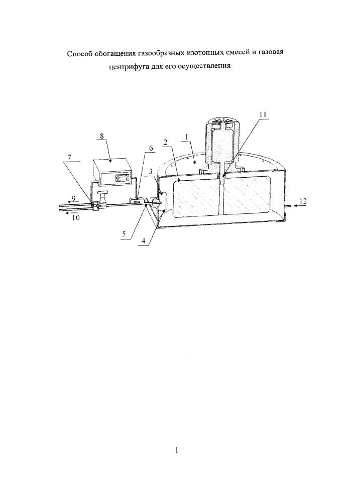 Способ обогащения газообразных изотопных смесей и газовая центрифуга для его осуществления