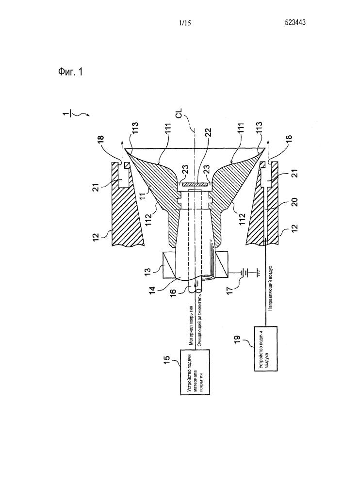 Колоколообразная насадка для устройства электростатического нанесения покрытия методом центробежного распыления