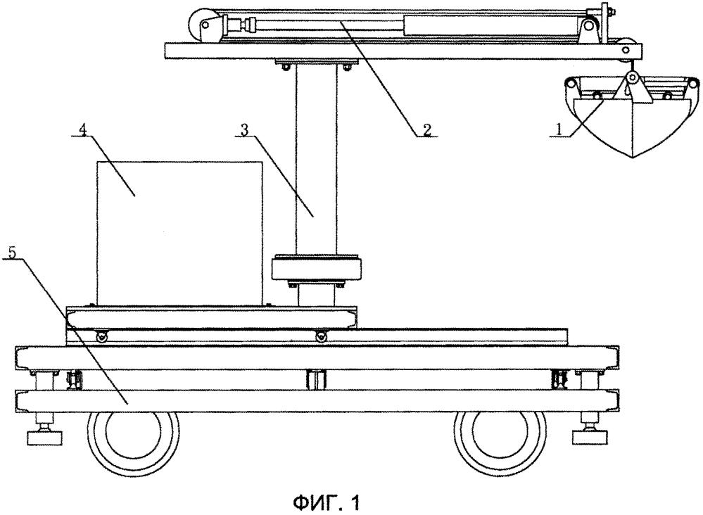 Машина для выемки материала из шахтной вагонетки, выполненная на основе подъемного механизма со стальным канатом