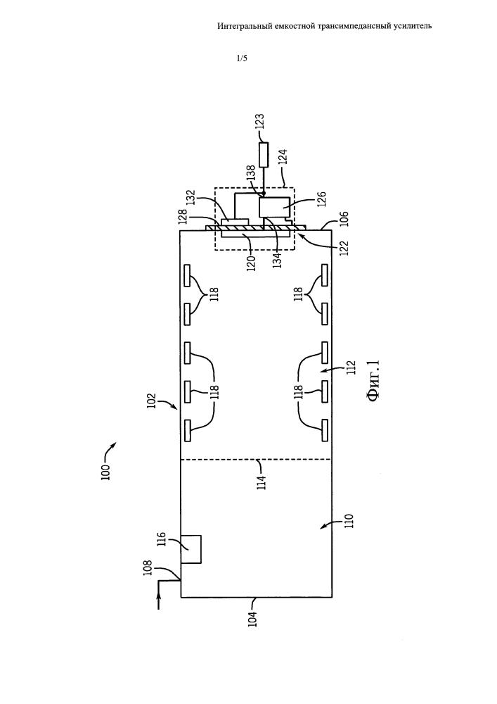 Спектрометр с интегральным емкостным трансимпедансным усилителем