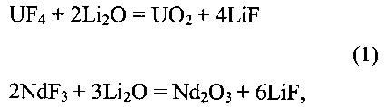 Композиционная смесь для осаждения оксидов делящихся и осколочных нуклидов из расплава эвтектической смеси lif-naf-kf