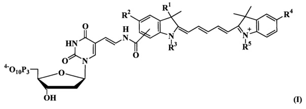 Флуоресцентно-меченые дезоксиуридинтрифосфаты