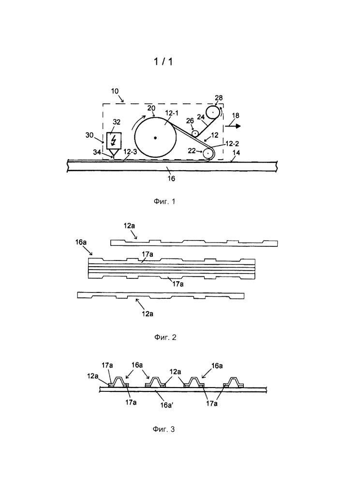 Способ и устройство нанесения и закрепления пленки на поверхности рабочего органа или конструктивного элемента