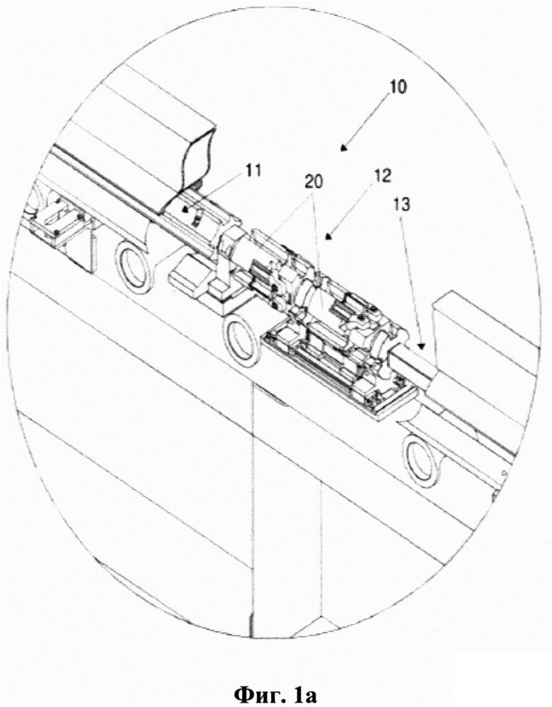 Механизм выгрузки прутков револьверного типа с тормозным устройством