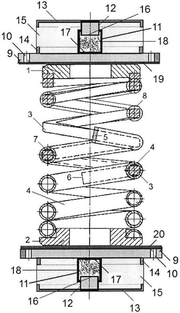 Виброизолятор комбинированный с шайбовым сетчатым демпфером