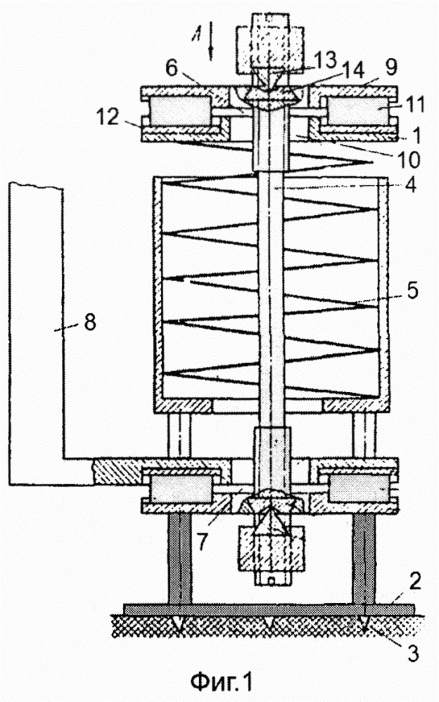 Пространственный пружинный виброизолятор кочетова со встроенным демпфером