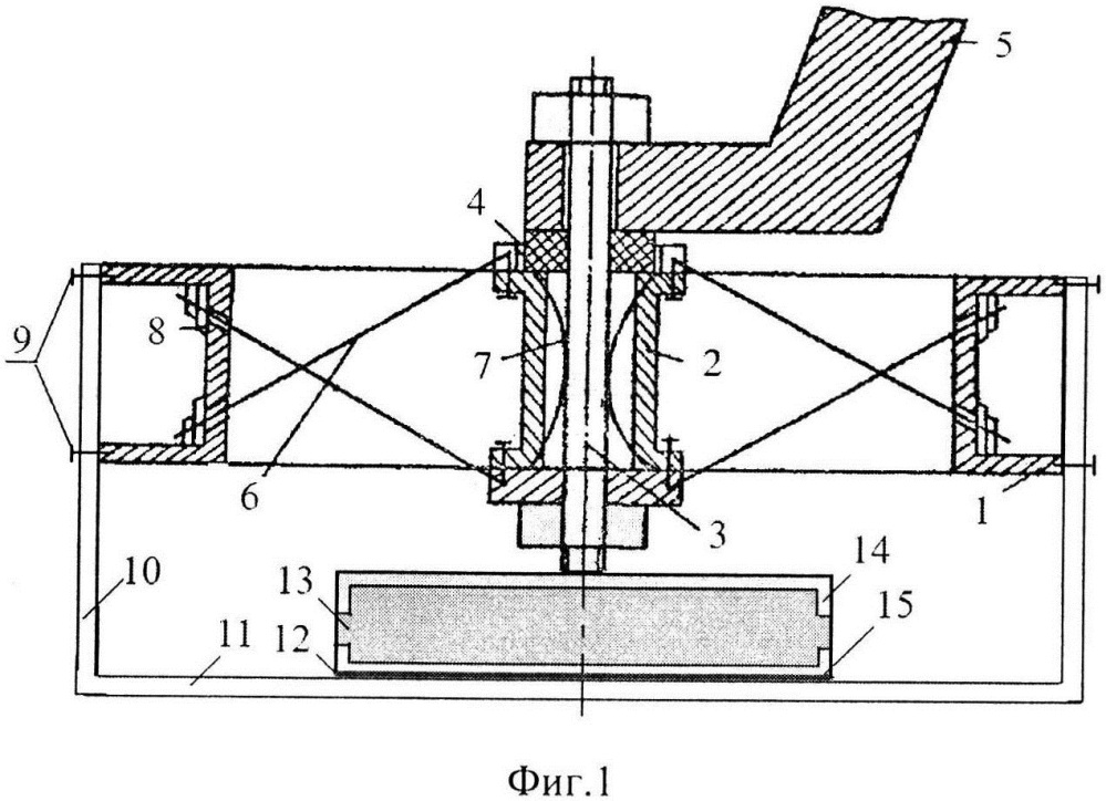 Виброизолятор с упругими элементами типа спица