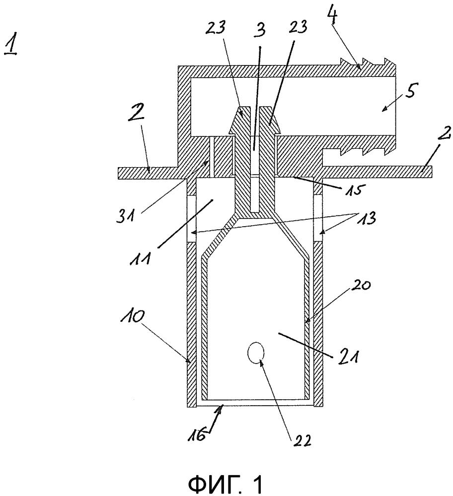 Резервуар для рабочей текучей среды, имеющий встроенный ветиляционный клапан и/или клапан выпуска воздуха