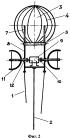 Виндроторный аэростатно-плавательный двигатель