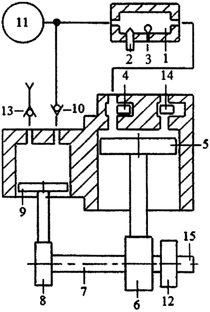 Способ пуска и реверсирования тандемного двухтактного двигателя с внешней камерой сгорания