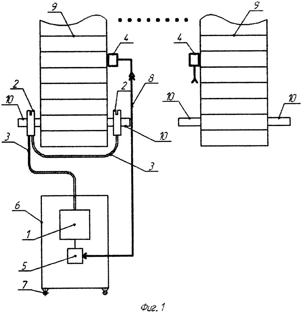Устройство для автоматизированной смазки тяговых цепей подъемно-транспортных механизмов (варианты)