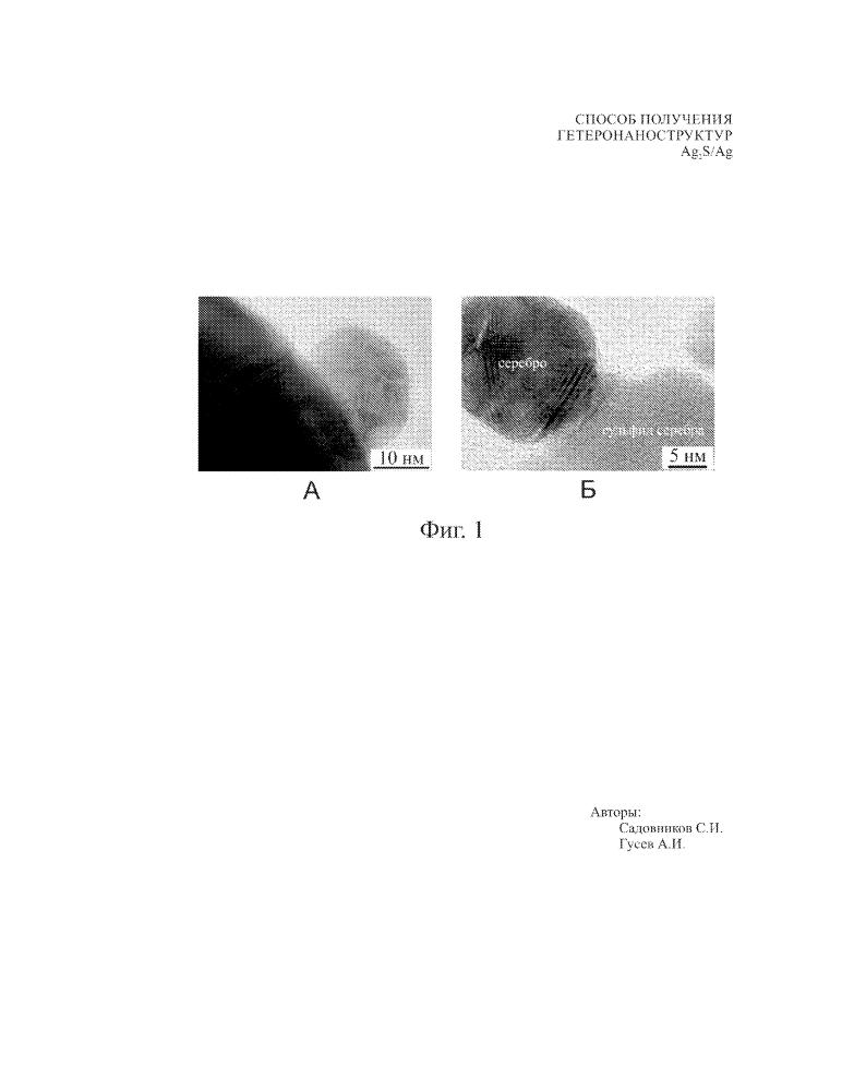 Способ получения гетеронаноструктур ag2s/ag