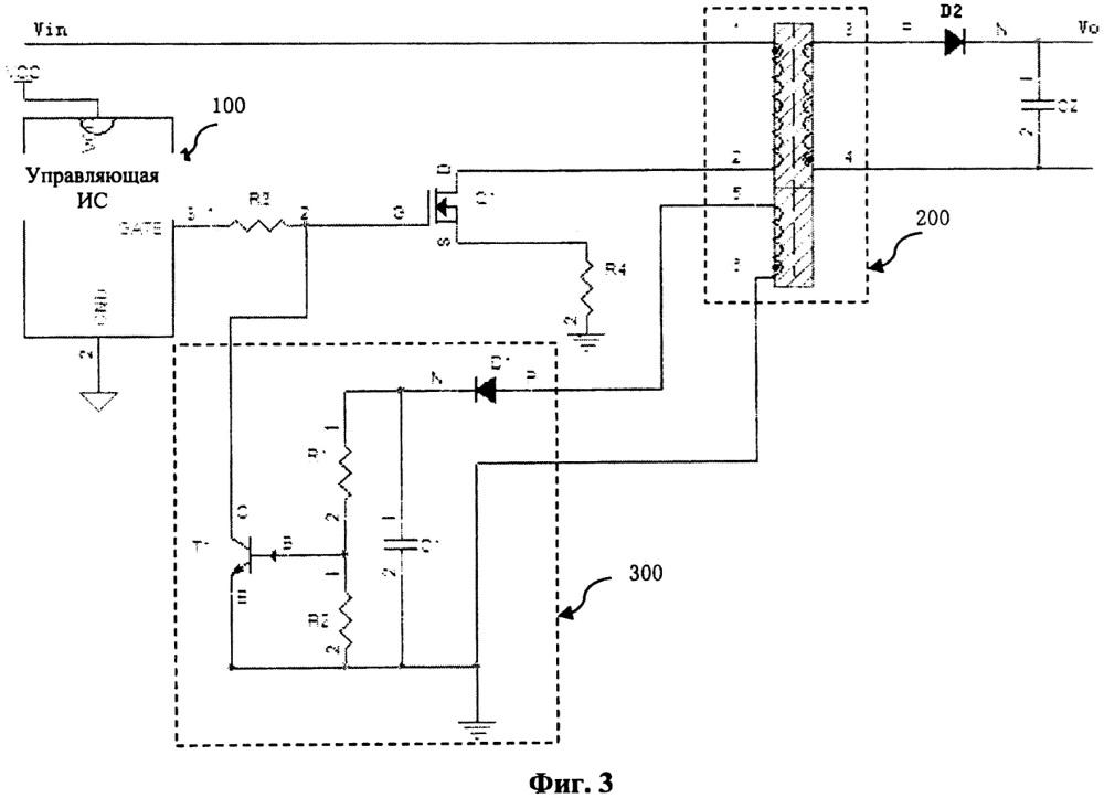 Схема обратноходового импульсного источника питания и драйвер подсветки, в котором она используется