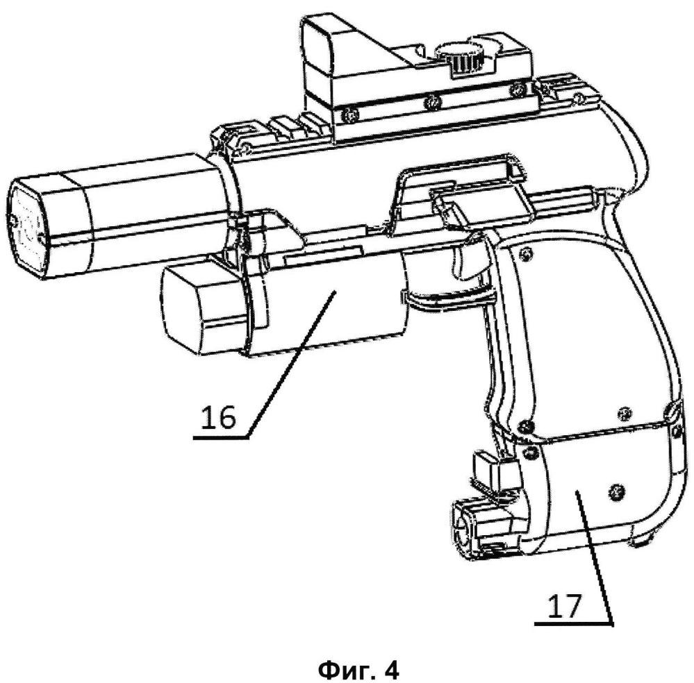 Пистолетный комплекс нелетального устройства и навесные приспособления комплекса
