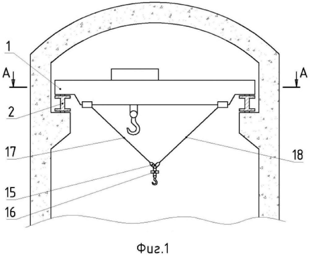 Устройство для проведения подъёмно-транспортных работ в реакторном зале атомной станции