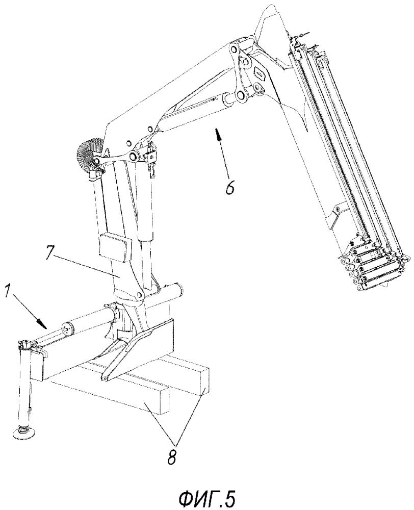 Крановая платформа для погрузочного крана