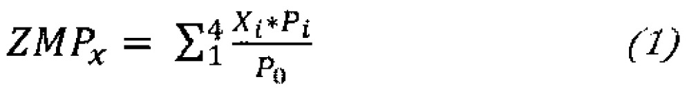Устройство определения положения точки нулевого момента при ходьбе без сгибания стопы