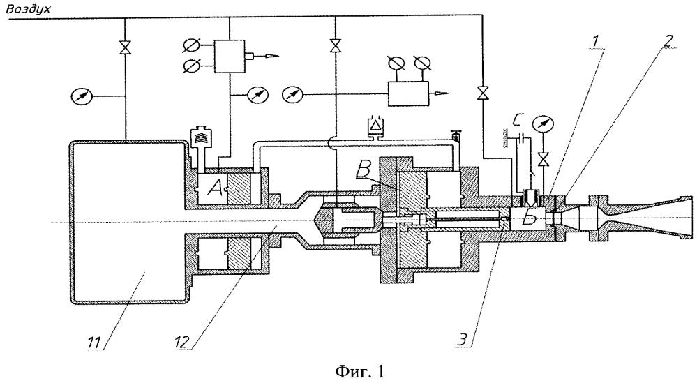 Импульсная аэродинамическая труба с электродуговым или комбинированным подогревом рабочего газа