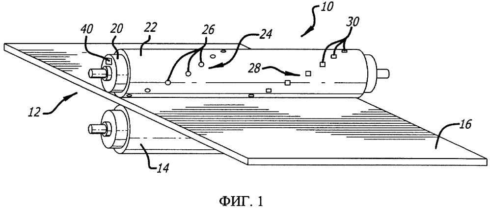 Способ и устройство для измерения и устранения вращательной изменчивости профиля давления в зоне прессования вала с покрытием отжимного пресса