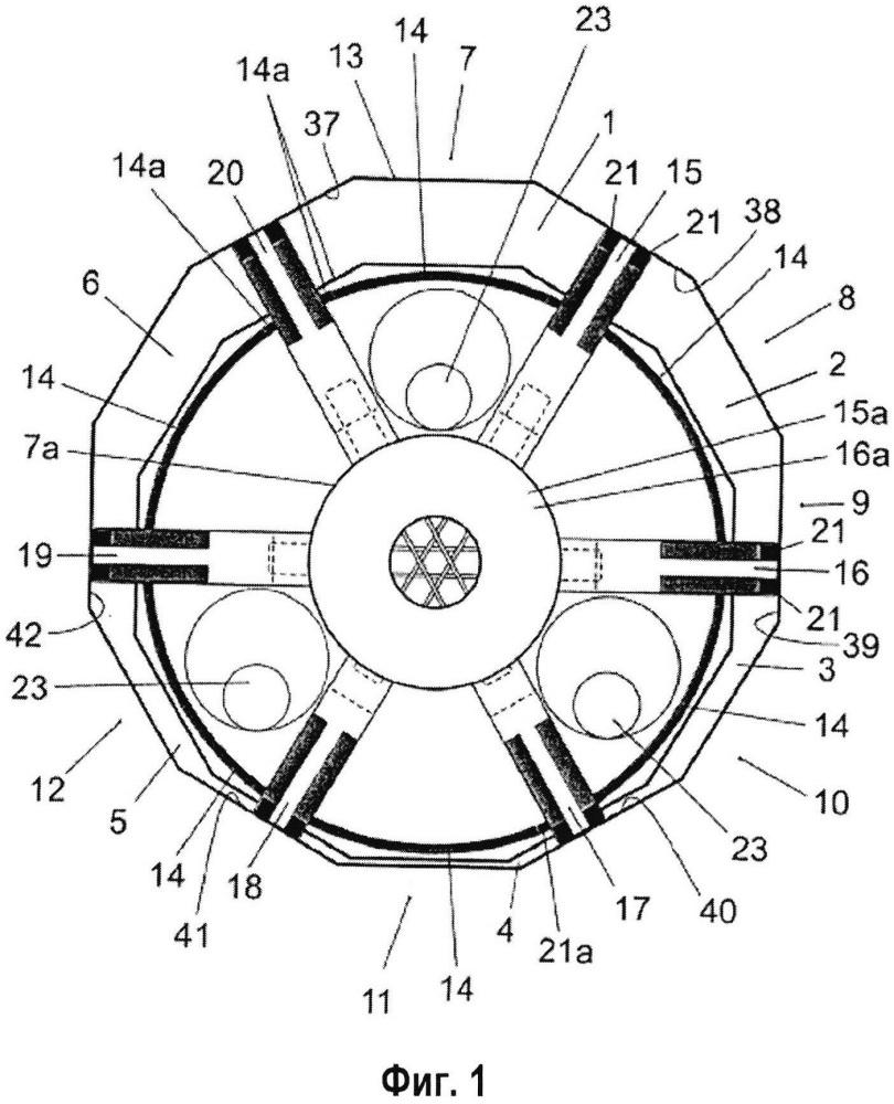 Двигатель с качающимся многоугольным поршнем