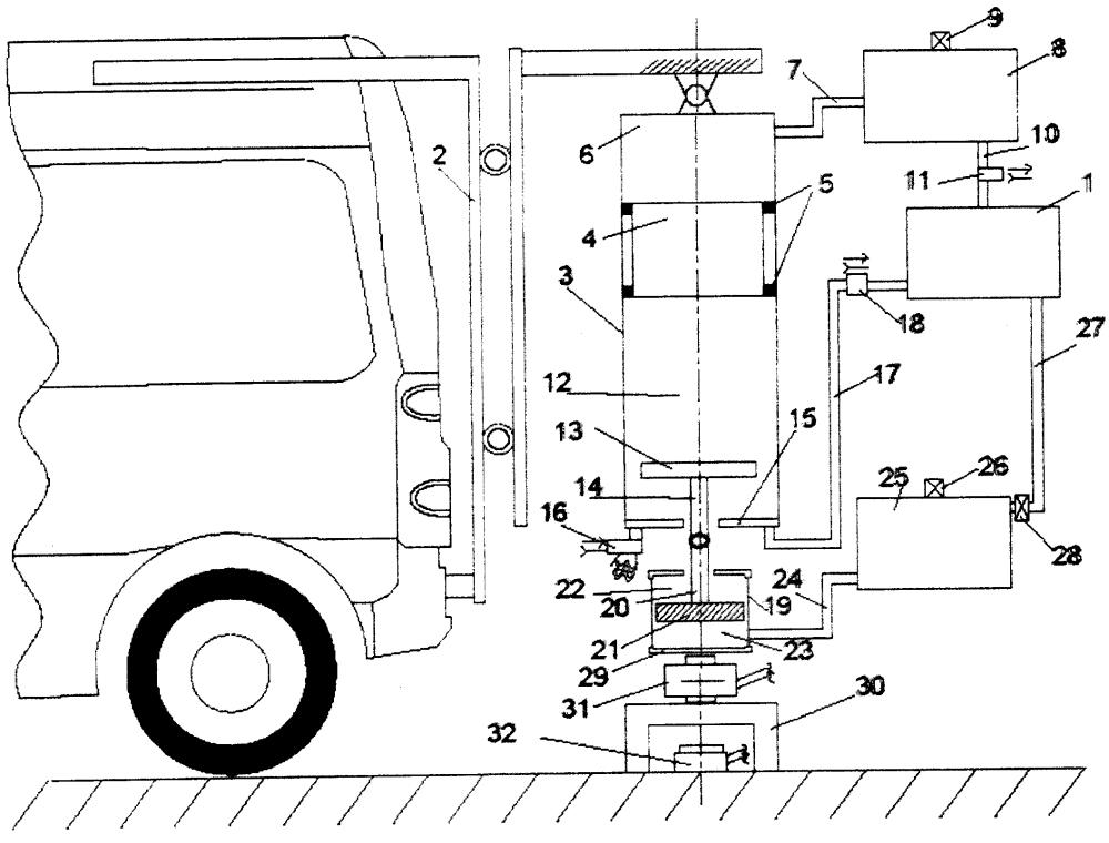 Устройство для измерения прочности дорожной одежды методом динамического нагружения