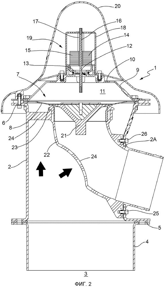 Клапан сброса давления для контейнеров, приспособленных для пневматической загрузки сыпучих твердых продуктов, в частности бункеров для хранения