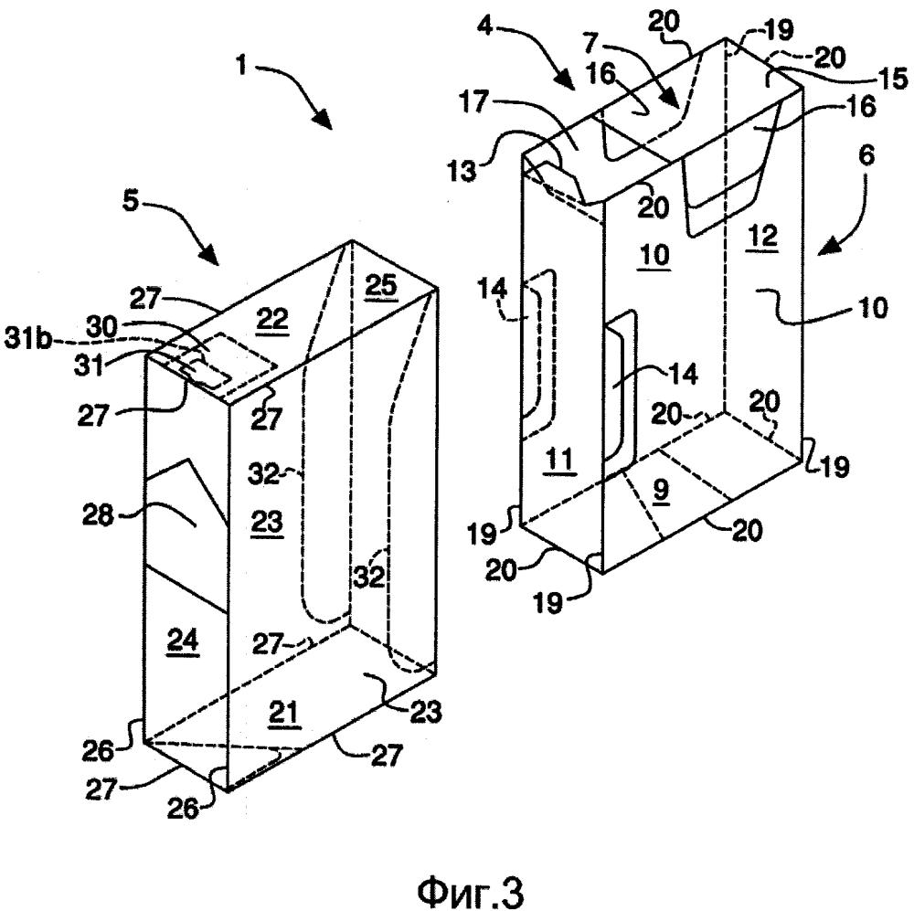 Упаковка курительных изделий со скользящим открыванием