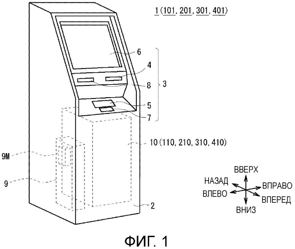 Устройство обработки средства обращения и устройство проведения транзакций с использованием средства обращения