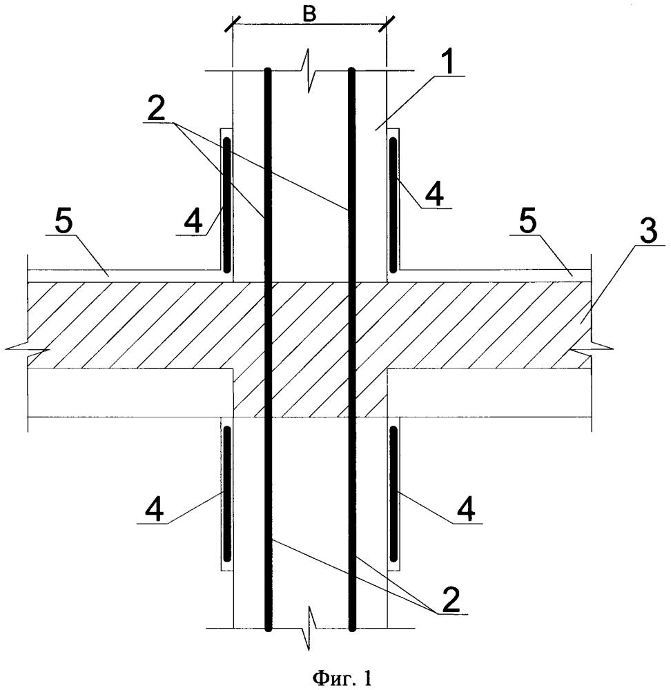 Способ прогрева узла примыкания ригелей к колонне в сборно-монолитном каркасе здания