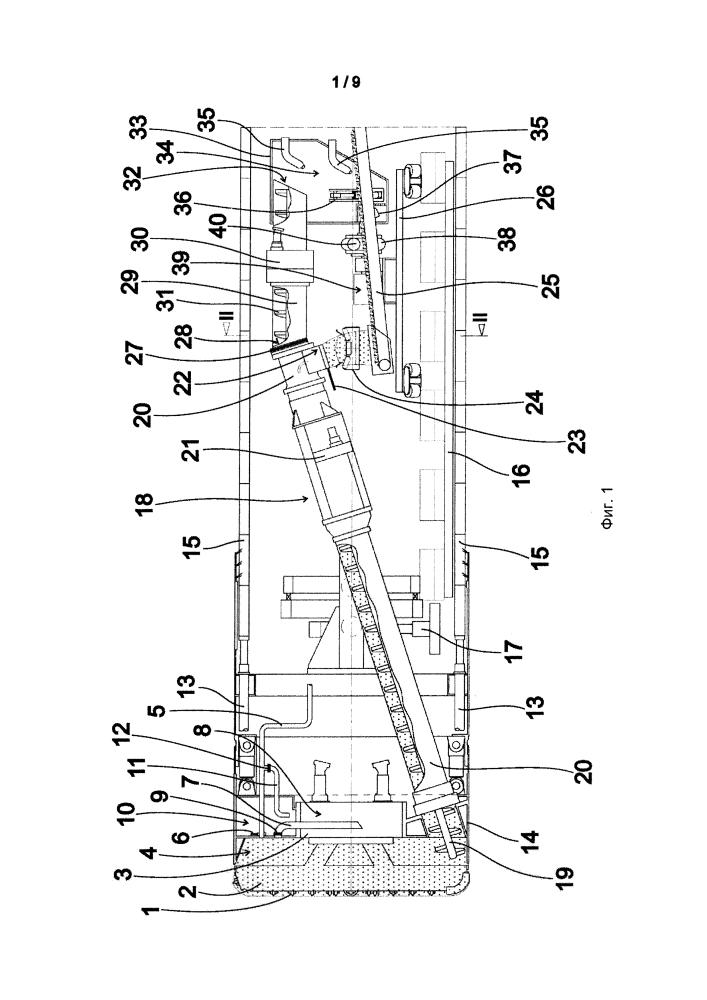 Способ и устройство для отвода вскрыши при проходке туннеля
