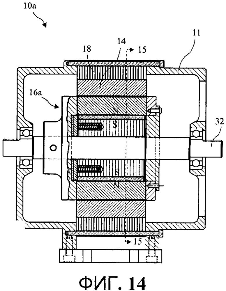 Гибридный асинхронный электродвигатель с самовыравнивающимся внутренним ротором на основе постоянных магнитов