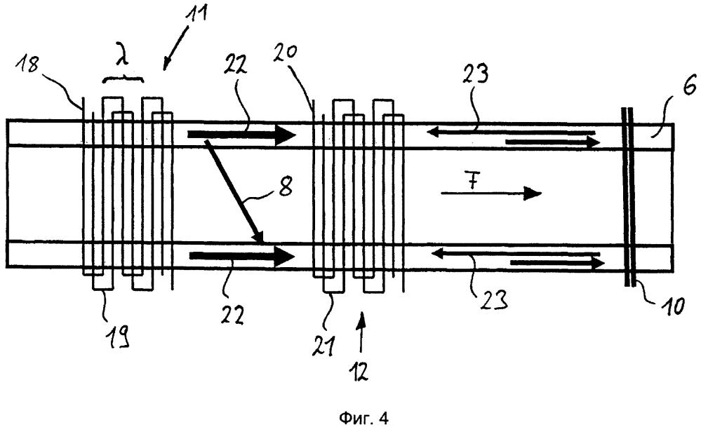 Акустический расходомер и способ определения потока в объекте