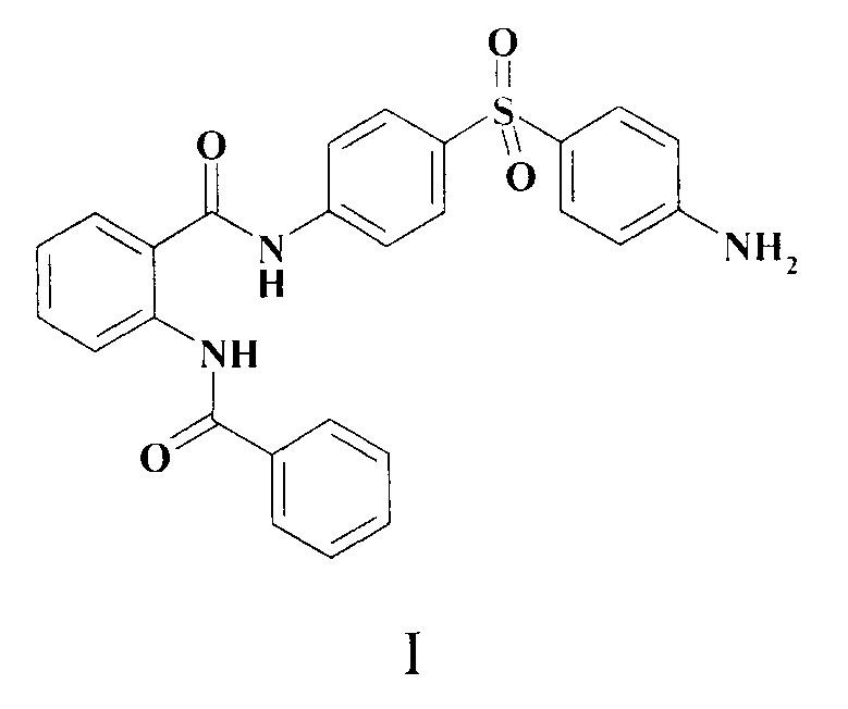 Противолепрозное средство, обладающее бактериостатической и бактерицидной активностью в отношении m. lufu, представляющее собой производное o-бензоиламинобензойной кислоты