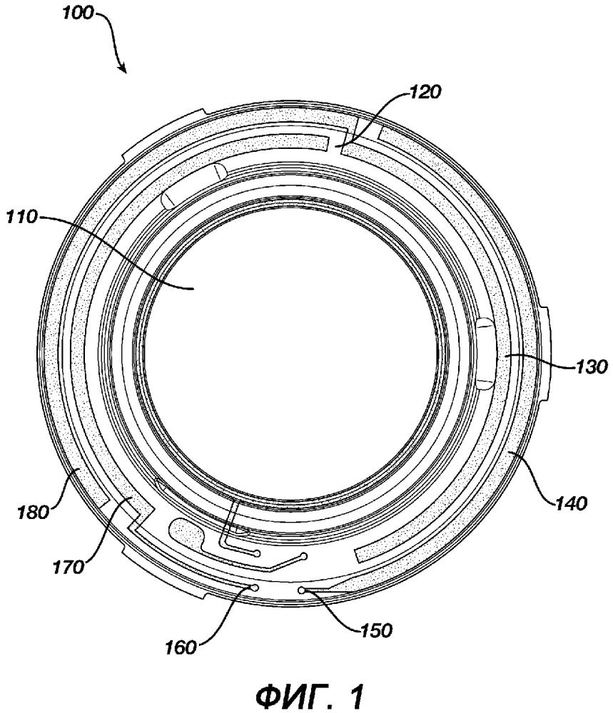 Офтальмологическое устройство с тонкопленочными нанокристаллическими интегральными цепями на офтальмологических устройствах