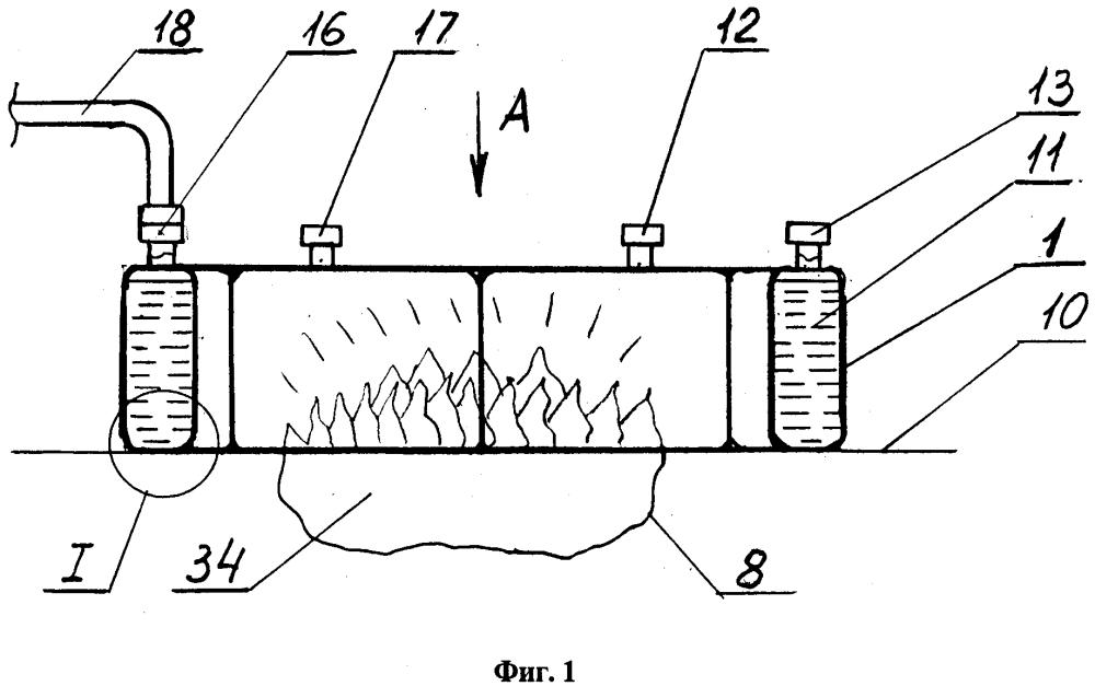 Способ тушения локальных наземных и подземных торфяных пожаров и устройство для его реализации (варианты)