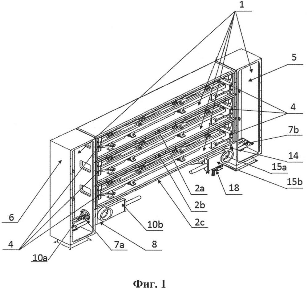 Многокамерная печь для вакуумной цементации и закалки зубчатых колес, валов, колец и аналогичных обрабатываемых деталей