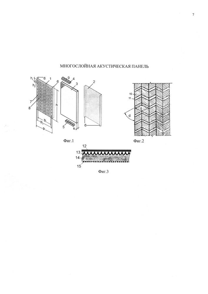 Многослойная акустическая панель