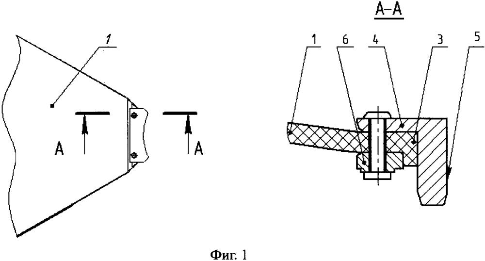 Крепление для сегментов антенного рефлектора