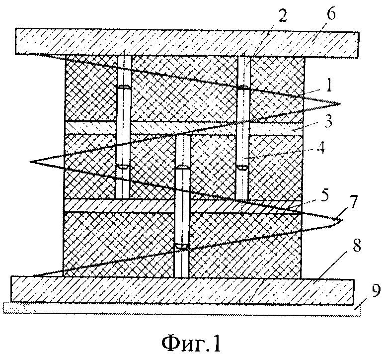 Виброизолятор комбинированный со встроенным резинометаллическим упругим элементом