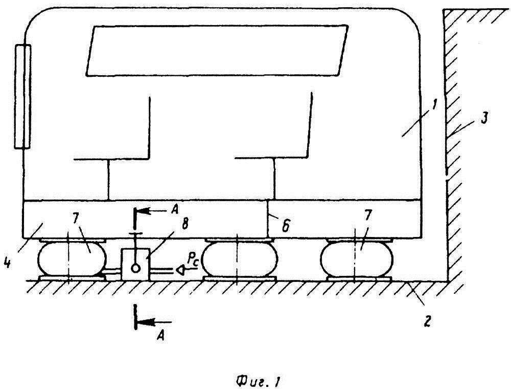 Виброизолирующая система кабины машиниста путевой машины