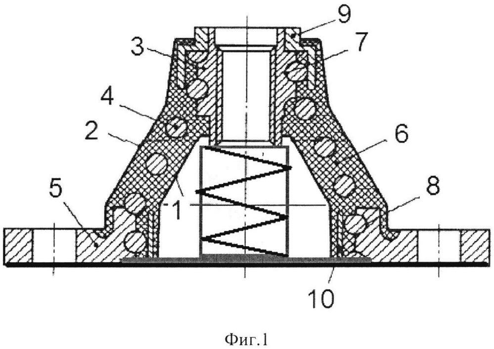 Резинометаллическое виброизолирующее устройство