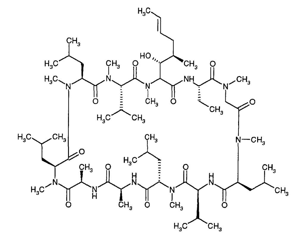Состав пролонгированного действия циклоспорина формы 2