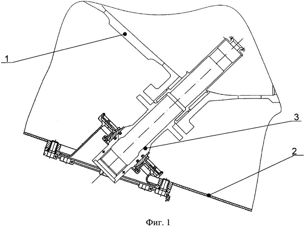 Компенсатор относительных перемещений внутреннего и внешнего корпусов турбомашины