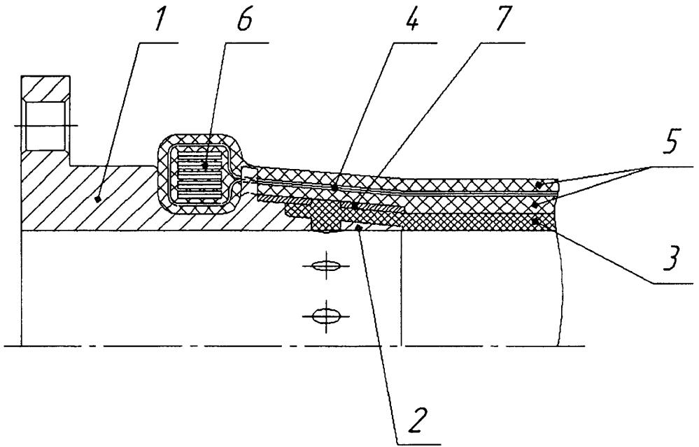 Устройство крепления арматуры гибкого рукава