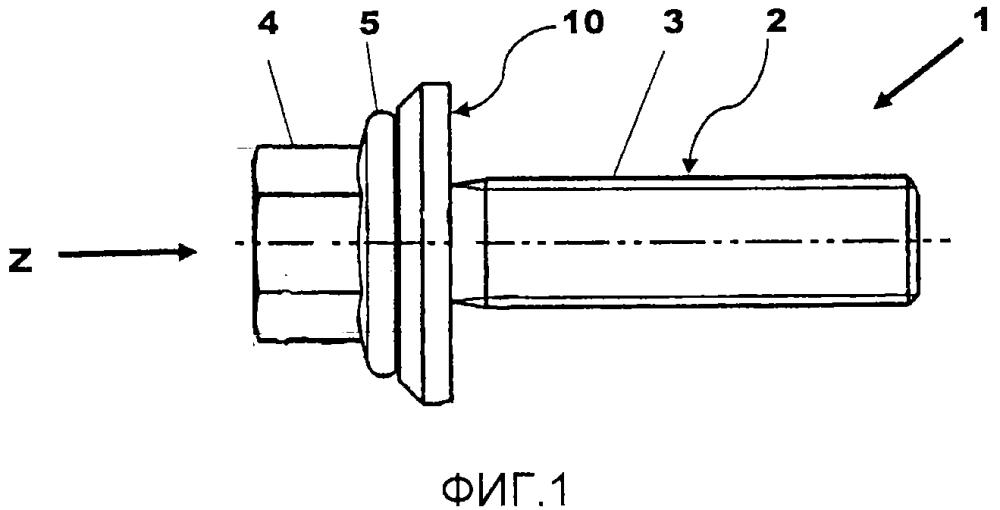 Шайба для использования между резьбовым крепежным средством и объектом, который должен крепиться резьбовым крепежным средством, и узел резьбового крепежного средства