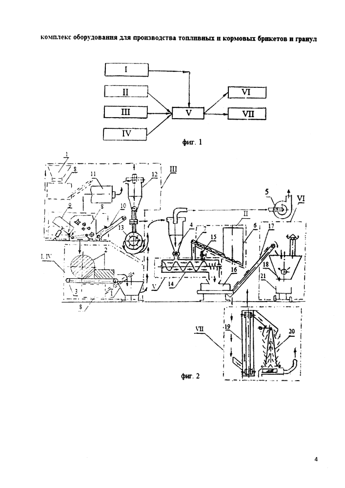 Комплекс оборудования для производства топливных и кормовых брикетов и гранул