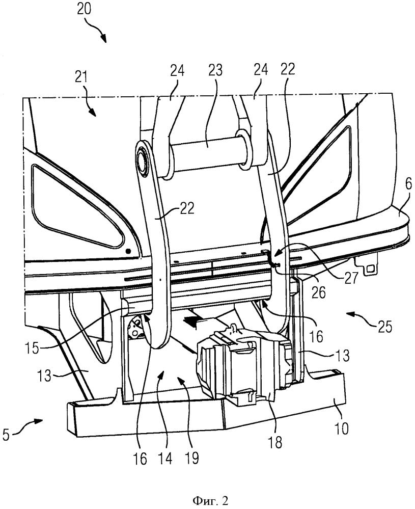 Подъемная система для установки на рельсы единицы подвижного состава