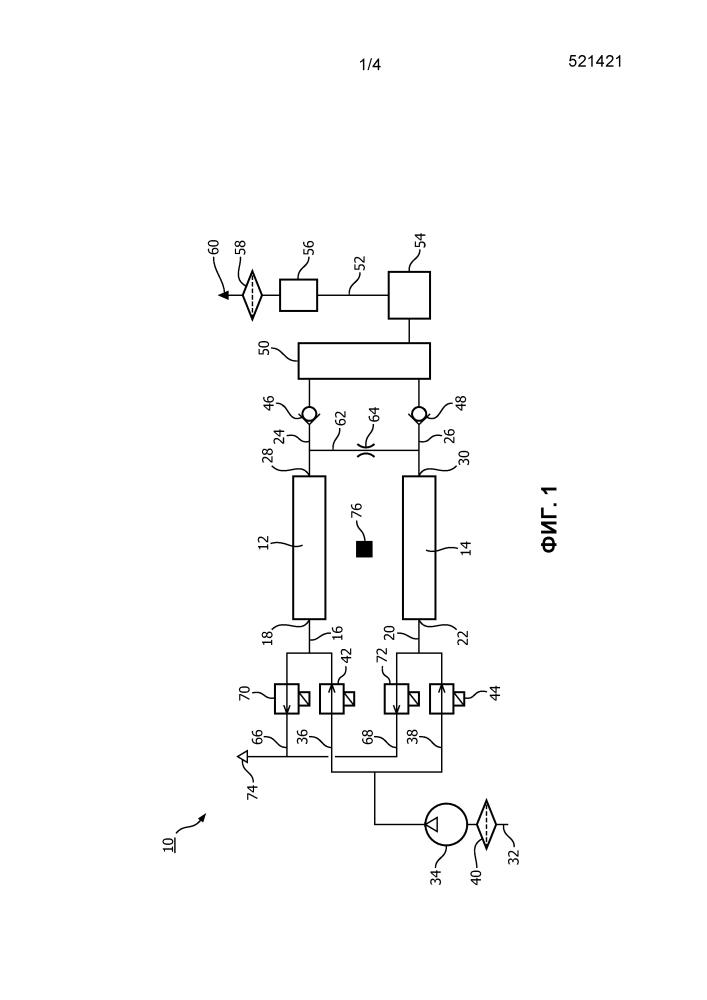 Устройство для сепарации кислорода для адсорбционной системы с реверсированием давления